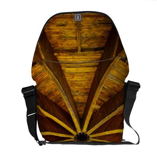 Techo de madera de la flor bolsa de mensajeria