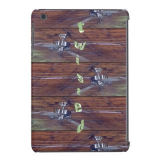 Techo de madera, fans del cromo fundas de iPad mini retina