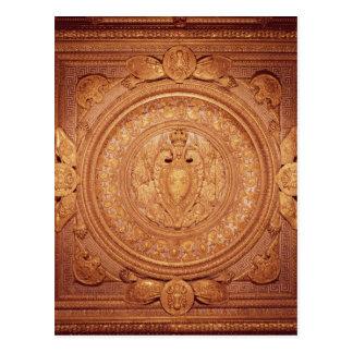 Techo del dormitorio de Enrique II Tarjetas Postales