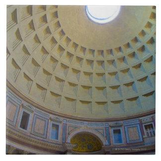 Techo del panteón en Roma, Italia Azulejo Cuadrado Grande