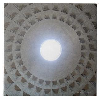 Techo del panteón, opinión granangular del ángulo  teja  ceramica