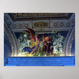 Techo en el museo de Vatican en la impresión de Ro Poster