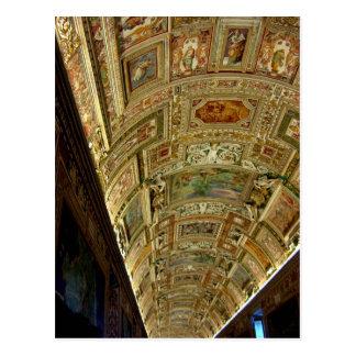 Techo en el museo de Vatican, postal de Roma Itali