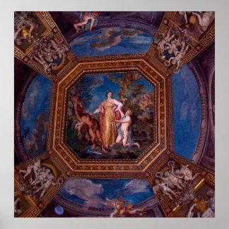 Techo en el Vatican en Roma, Italia Impresiones