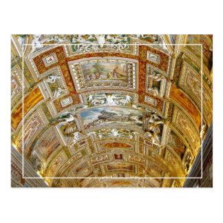 Techo en la galería de los mapas, museos de tarjetas postales