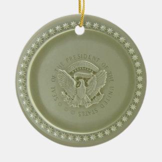 Techo oval de la oficina, sello presidencial Ornam Adorno De Navidad