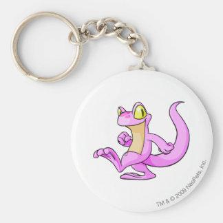 Techo Pink Basic Round Button Keychain