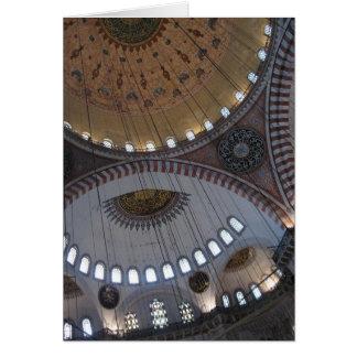 Techo turco de la mezquita felicitación