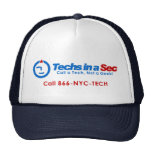 Techs In A Sec NYC Style Mesh Hats