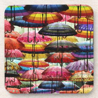 Techumbre del paraguas posavasos de bebida
