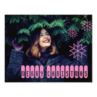 Techy Pink Merry Christmas Card