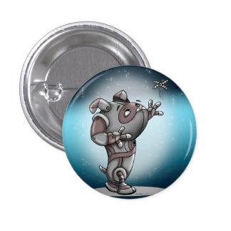 TECK ROBOT ALIEN Round Button