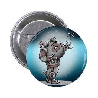 TECK ROBOT ALIEN Round Button Standard, 2¼ Inch