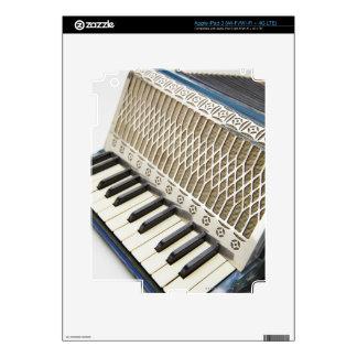 Teclado antiguo del acordeón iPad 3 skins