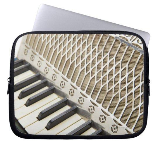 Teclado antiguo del acordeón manga computadora