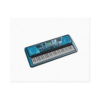 teclado blue png electrónico lienzo envuelto para galerias