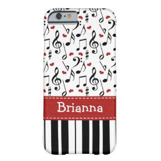 Teclado de la nota de la música del piano funda barely there iPhone 6