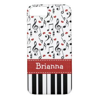 Teclado de la nota de la música del piano funda iPhone 7