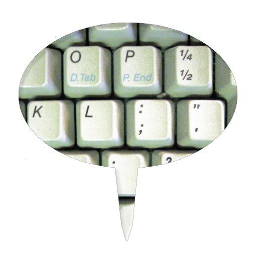 Teclado de máquina de escribir figuras para tartas