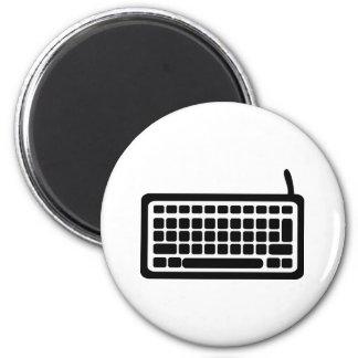 Teclado de ordenador imán redondo 5 cm