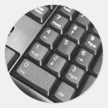 Teclado de ordenador pegatinas redondas