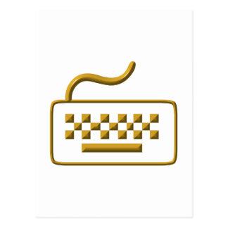 Teclado de ordenador postal