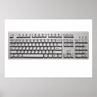 teclado de ordenador póster