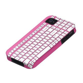 Teclado de ordenador rosado vibe iPhone 4 fundas