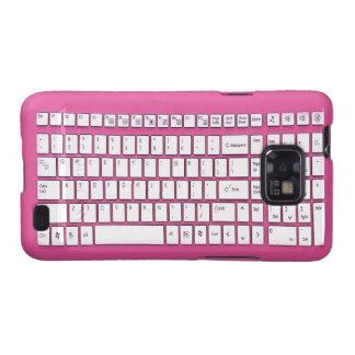 Teclado de ordenador rosado galaxy SII carcasa