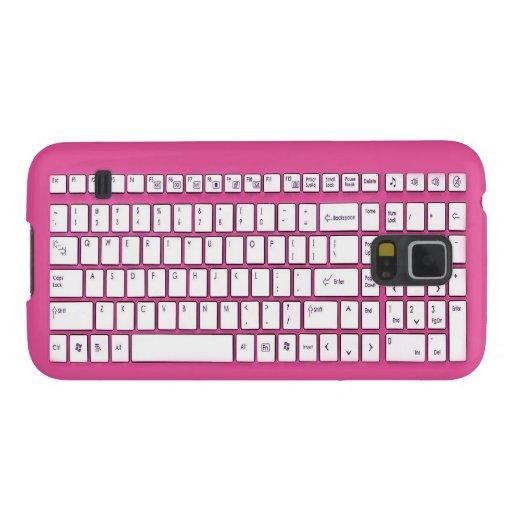Teclado de ordenador rosado fundas para galaxy s5