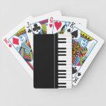 Teclado de piano baraja cartas de poker