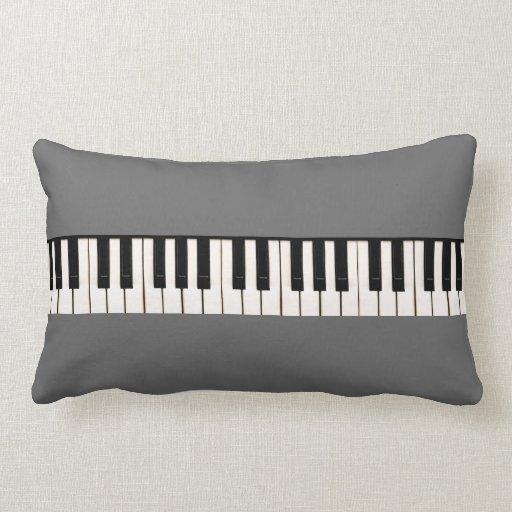 Teclado de piano cojín lumbar