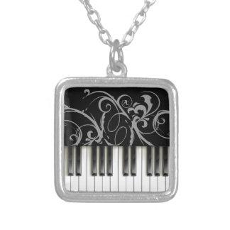 Teclado de piano colgante cuadrado