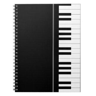 Teclado de piano libreta