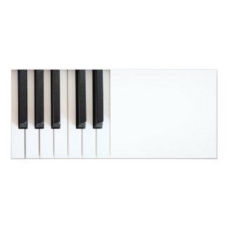 Teclado de piano de Digitaces Invitación 10,1 X 23,5 Cm