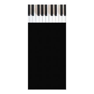 Teclado de piano de Digitaces Tarjetas Publicitarias Personalizadas