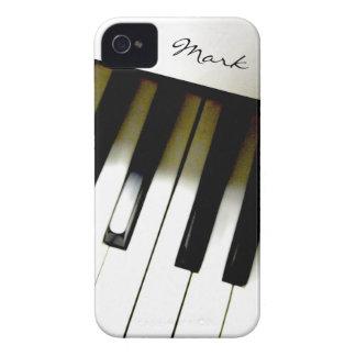 Teclado de piano de la música personalizado iPhone 4 funda