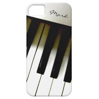 Teclado de piano de la música personalizado iPhone 5 Case-Mate protectores