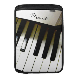 Teclado de piano de la música personalizado fundas macbook air