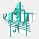 Teclado de piano de la turquesa colcomania cuadrada