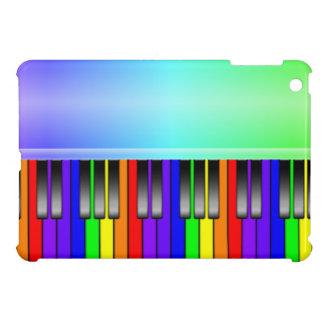 Teclado de piano del arco iris iPad mini funda