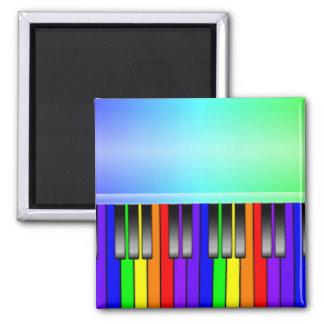 Teclado de piano del arco iris imán de frigorífico