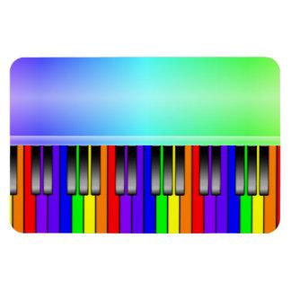 Teclado de piano del arco iris imanes de vinilo