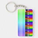 Teclado de piano del arco iris llaveros