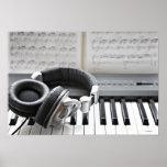 Teclado de piano eléctrico impresiones