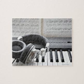 Teclado de piano eléctrico puzzle con fotos