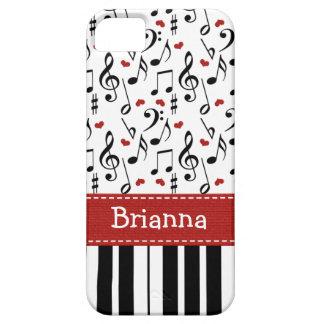 Teclado de piano funda para iPhone SE/5/5s