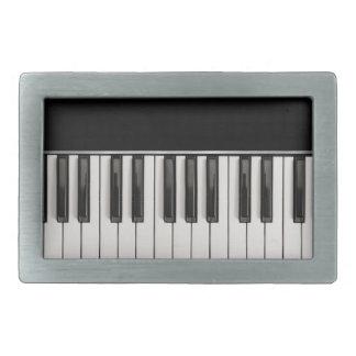 Teclado de piano hebillas de cinturón rectangulares
