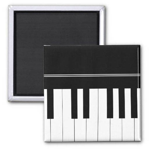 Teclado de piano imán cuadrado