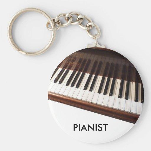 Teclado de piano llavero